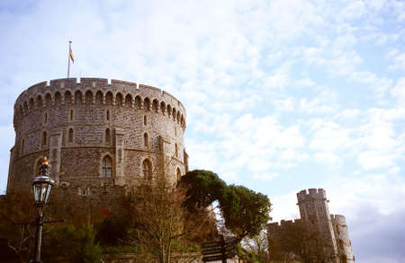 The Round Tower of Windsor Castle in Windsor, England