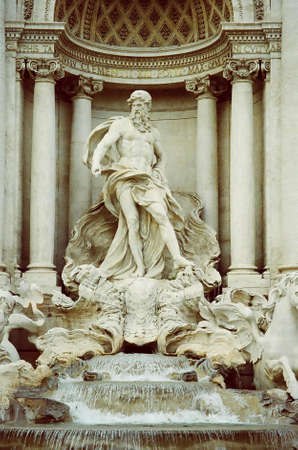 Neptune( God of the Sea) at Trevi Fountain in Rome, Italy