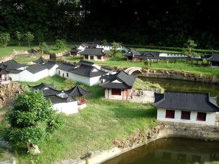 splendide: Les petits vieux jardin chinois Splendid � la Chine, � Shenzhen, en Chine Banque d'images