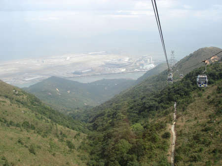 Cable car at Lantau Island, Hong Kong                            Stock Photo