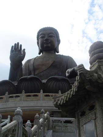 The worlds tallest outdoor seated bronze Buddha, Lantau Island, HK