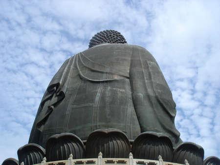 The worlds tallest outdoor seated bronze Buddha, Lantau Island, HK         photo