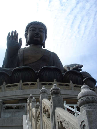 lantau: Il pi� alto del mondo esterno in bronzo del Buddha seduto, Lantau Island, Hong Kong