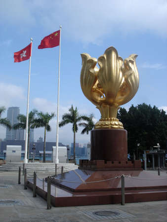 Golden Bauhinia Square, HK                     写真素材