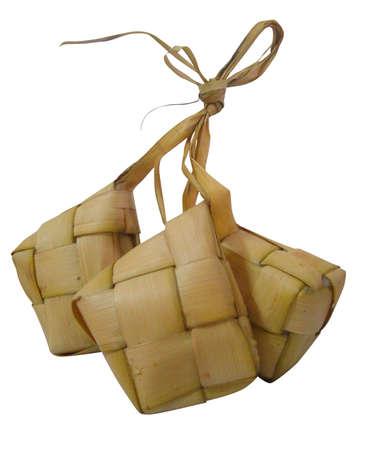 Ketupat, traditional Malay compact glutinous rice for Hari Raya celebrations Stock Photo - 5611905