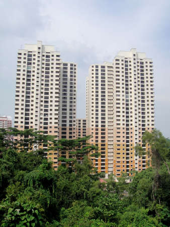 Residential housing apartment block in Singapore                                photo