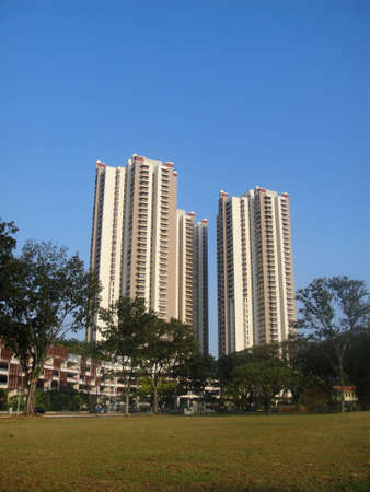 Residential housing apartment block in Singapore                           Stock Photo