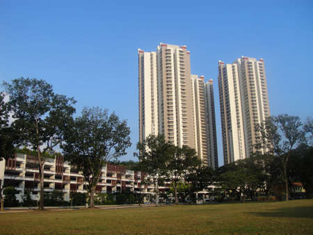 Residential housing apartment block in Singapore