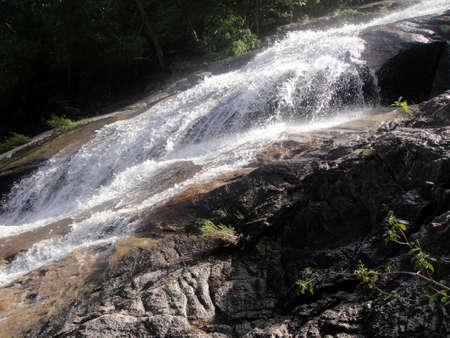 Waterfall on Gunung Ledang                               Stock Photo
