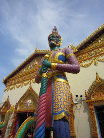 Guardian infront of Wat Chaiyamangkalaram in Penang, Malaysia