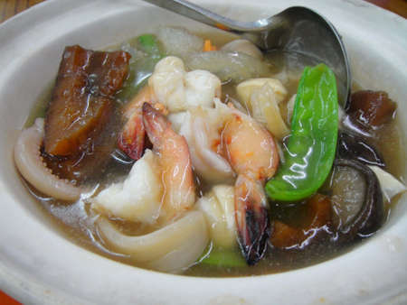 Seafood claypot                       Stock Photo