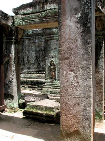 Davata on wall at Preah Khan, Angkor, Cambodia