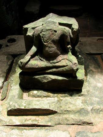 khan: Buddha statue at Preah Khan, Angkor, Cambodia Stock Photo