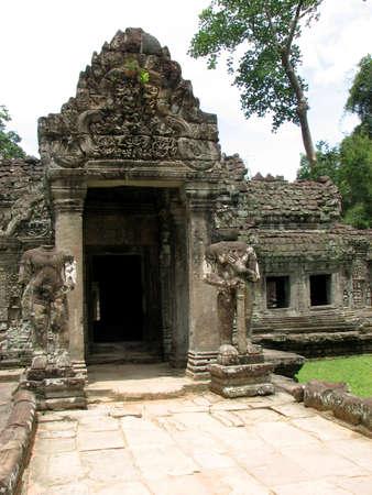 Guardians at Preah Khan, Angkor, Cambodia