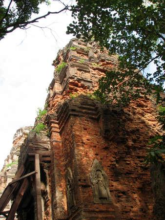 Lolei of Roluos Group at Angkor, Cambodia photo