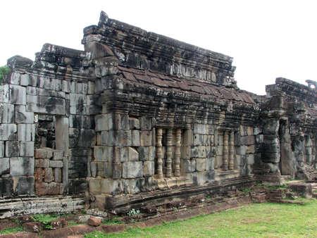 Walls and windows of Preah Ko at Roluos Group, Angkor, Cambodia photo