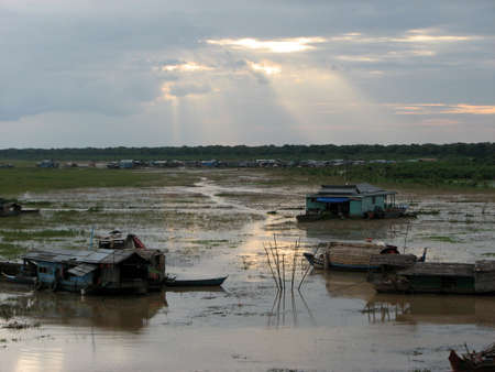 Tonle Sap at Siem Reap, Cambodi