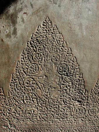 Carved pillar of Angkor Wat at Angkor, Cambodia  at Angkor, Cambodia  photo