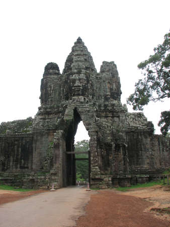 Entrance South Gate of Angkor Thom, Angkor, Cambodia