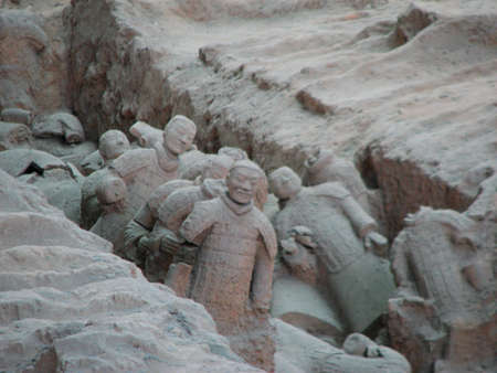 The Terracotta Warriors (Bing Ma Yong) at Qin Terracotta Army Museum, Xian