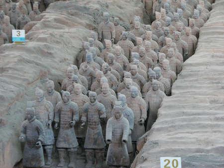 sensational: Terracotta warriors stand in battle array at Qin Terracotta Army Museum, Xian