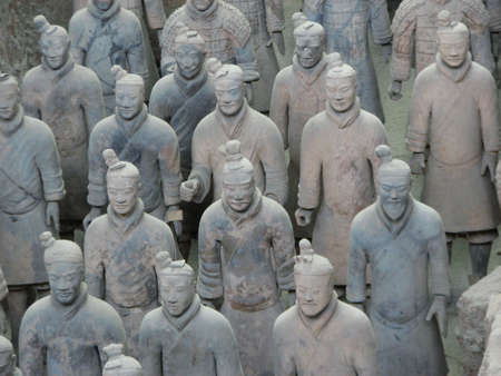 sensational: Terracotta warriors stand in battle array at Qin Terracotta Army Museum, Xian