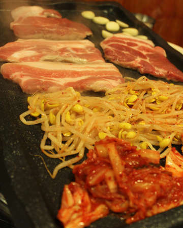 Korean grilled pork belly BBQ