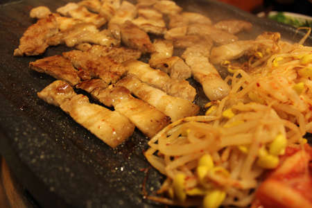 Korean grilled pork belly BBQ