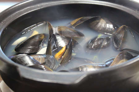 Korean mussel soup  写真素材