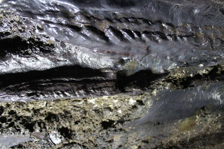 The lava wall of Manjanggul Lava Tube