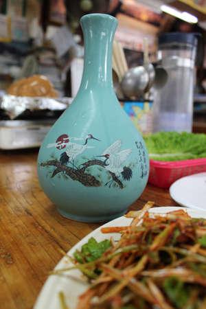 Jeju rice wine  in Jeju Island, South Korea Stock Photo