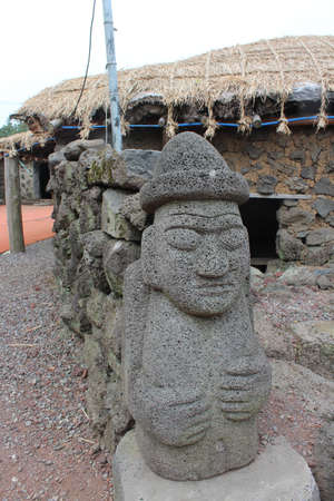 Jeju Do Tolharubang or Stone Grandfather Guardians photo