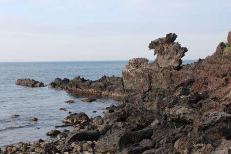 Yongduam - The Dragon Head Rock in Jeju Island, South Korea