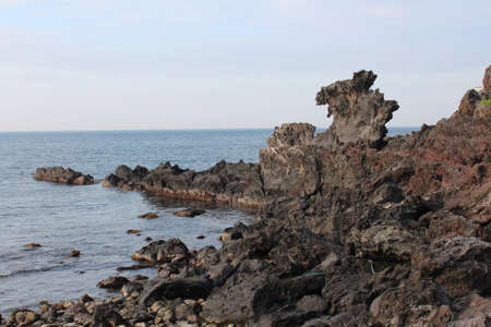 Yongduam - The Dragon Head Rock in Jeju Island, South Korea