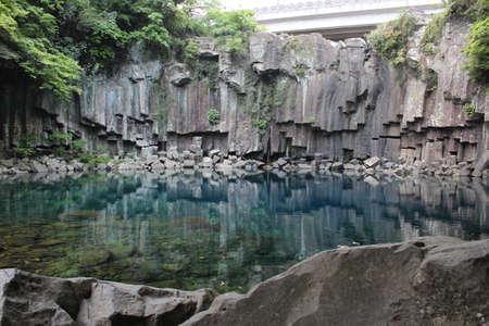 Cheonjeyeon Waterfalls in Jeju Island, South Korea 写真素材