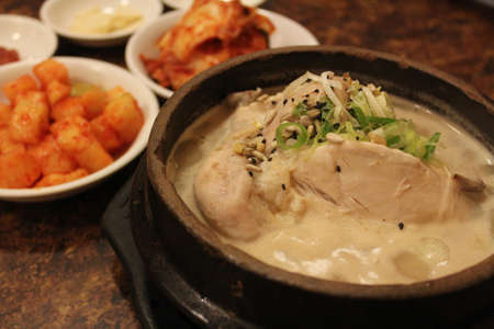 korean ginseng chicken soup photo