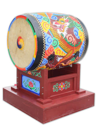A Korean traditional style of big drum photo