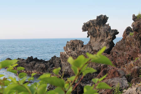 Yongduam - The Dragon Head Rock in Jeju Island, South Korea photo