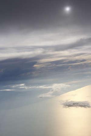 Sunset through Airplane Window