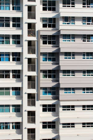 residential housing: Residential housing apartment blocks