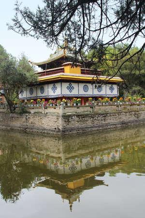 A pavilion, the Tsokyil Potrang, in the Norbulingka (Summer Palace) at Lhasa, Tibet, China Editorial