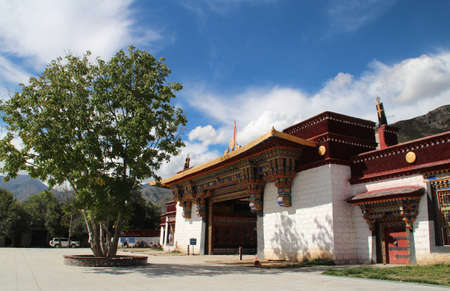 Entrance of Sera Monastery in Lhasa, Tibet, China photo