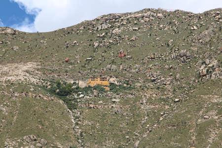 Sera Peak is located on the mountain directly behind Sera Monastery itself in Lhasa, Tibet, China Stock Photo