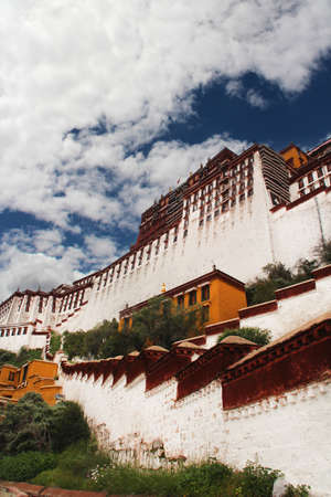 View of the Potala Palace in Lhasa, Tibet, China Editorial