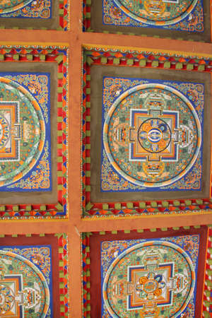 Ceiling painting in Sera Monastery, Lhasa, Tibet, China