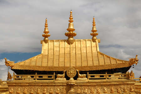 Gilded roof at Jokhang Temple in Lhasa, Tibet, China