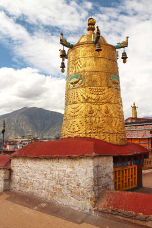 Gilded bell at Jokhang Temple in Lhasa, Tibet, China