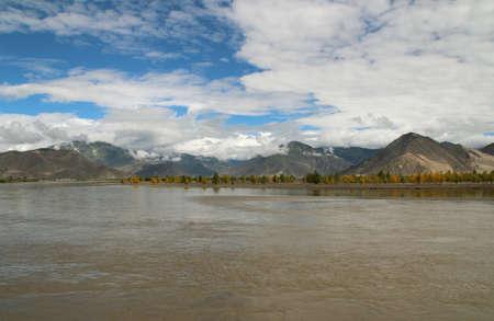 Yarlung Tsangpo River near Shigatse, Tibet, China