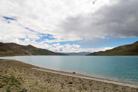 Yamdrok Lake in Tibet, China