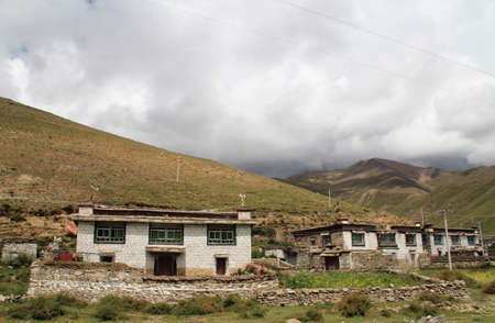 colloquially: Shigatse, Tibet, China- September 12, 2014: The Tibetan houses looking like a castle, are colloquially called ?castle? by the local people